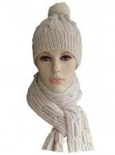 Шапка вязаная+шарф+рукавички арт.Ш-07
