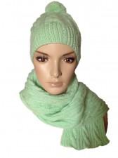 Шапка вязаная+шарф+рукавички арт.Ш-04